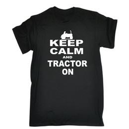 Farming tractors online shopping - Keep Calm And Tractor On T SHIRT birthday Joke Farmer Farm Gift birthday Top Tee Print T Shirt Summer Style