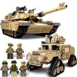 Model Military Tanks Australia - KAZI 1463Pcs Building Blocks M1A2 ABRAMS Military Tank Weapon Toys 1:28 MBT And 1:18 HUMMER Scale Model Toys for Children