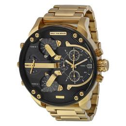 Esportes Mens Relógios Mostrador Grande DZ 55mmTop Marca de Luxo relógio de Quartzo Relógio de Aço Banda 7333 Moda relógios de Pulso Para Homens 7315
