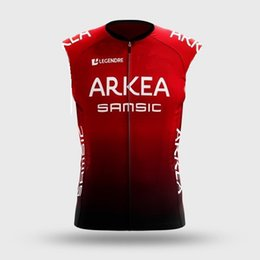 vest team cycling NZ - 2020 ARKEA SAMSIC PRO TEAM Red Summer Sleeveless Cycling Vest Clothing Bicycle Maillot Ciclismo Bike Clothes