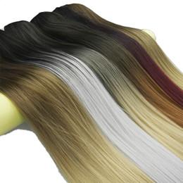 Clip Bangs Black Hair Australia - 60cm Black To Grey Heat Resistant Synthetic Hair Clip In Hair Women Hair Piece