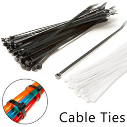 wire wrapping 2019 - Good 100pcs set 2.5x200mm Nylon Plastic Cable Ties Zip Fasten Wire Wrap Strap discount wire wrapping