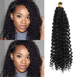 "Chinese  Mtmei hair Braiding Hair-Extensions 14"" 24Strands 100g Water Wave Hair Bulk Black Brown Grey Purple Blonde Afro kinky Curly Crochet Hair manufacturers"