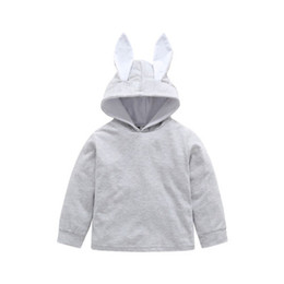 China New Toddler Kid Baby Girl Ears Hoodie Coat Rabbit Bunny Pullover Solid Coat Grey Jacket Outwear Snowsuit Clothes supplier hoodies rabbit ears suppliers