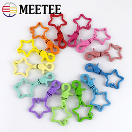 $enCountryForm.capitalKeyWord Australia - Meetee Keychain Rings Buckles Star Key Holder Split Rings Dog Buckles Snap Hook Lobster Clasp DIY Keychain Pendant