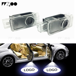 led logo light door for vw Australia - 2 pcs Car Door light for Toyota BMW VW Audi Welcome logo Laser LED Projector Shadow Light Ghost Light Decorative Lamps