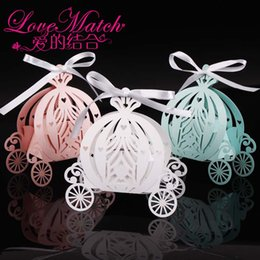 paper lasers Australia - 2019 50pcs Laser Cut Pumpkin Carriage Wedding Candy Favor Box,pearl Color Paper Candy Box,baby Shower Birthday Gift J190706