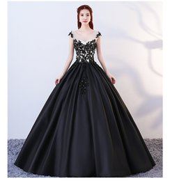 $enCountryForm.capitalKeyWord Australia - Black Nude Ball Gown Gothic Wedding Dresses Beaded Lace Satin Corset Non White Bridal Gowns With Color Colorful Bride's Dress Custom Made