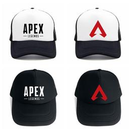 f35657fcc7d38 Apex legends game caps summer mesh fashion outdoor baseball cap hip hop hat  popular sun hats for man women AAA1859