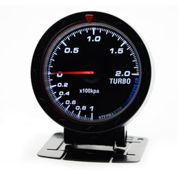 "$enCountryForm.capitalKeyWord Australia - 2.5"" 60MM 12V Car Gauge Meter Boost Turbo Gauge -1-2BAR Black Face With Turbo Sensor Without Logo"