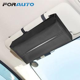 Sun Visor Organizers Australia - Forauto Universal Car Sun Visor Holder Pu Leather Tissue Box Cover Case For Paper Auto Organizer Accessories C19042101
