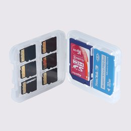 $enCountryForm.capitalKeyWord UK - New 8 in 1 Plastic Case Box For TF Micro SD Memory Card for SDHC TF MS Protector Holder High Quality