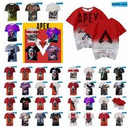 Video games shirts online shopping - Apex Legends T shirt styles Summer D Print Video Games Short Sleeve O Neck Tees Tracksuit Fitness Tops Teenager blouse XXS XL AAA1827