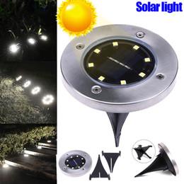 8 LEDs Solar Power Buried Light Boden Lampe Außen Weg Garten Dekor Garten Rasen Hof Außenbeleuchtung im Angebot