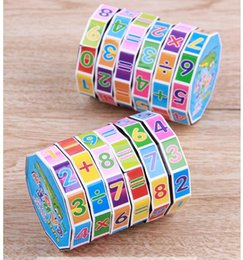 Machine cube online shopping - Addition and subtraction learning toys Plastic cylindrical children s puzzle toys digital magic cube play learning decompression toys