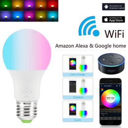 $enCountryForm.capitalKeyWord Australia - LED Smart WiFi Light Bulb 4.5W  6.5W RGB Magic Light Bulb Lamp Wake-Up Lights Compatible with Alexa and Google Assistant Dropship
