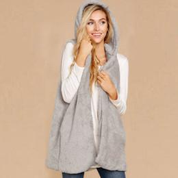 $enCountryForm.capitalKeyWord Australia - Women Faux Fur Vests Fleece Warm Jacket Winter Sleeveless Coats Outwears Loose Knitt Jumper Cardigan Outwear Coats Female 2018
