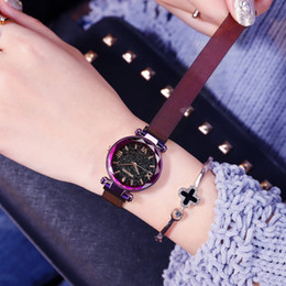 milan watches Canada - Schoolgirl Surface Concise Trend Leisure Time Atmosphere Milan Network Bring Trill Starry Sky Wrist Watch
