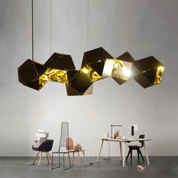 $enCountryForm.capitalKeyWord Australia - NEW Nordic Modern Pendant Lights Metal Faceted Pendant Lamp Villa Hotel Gallery Bar Home Living room restaurant E14 hanging lamp