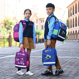 Discount car boy backpacks - 2019 NEW Children School Bags teenage Girls and Boys Orthopedic Backpack cartoon butterfly car School Bag 2pcs set kids