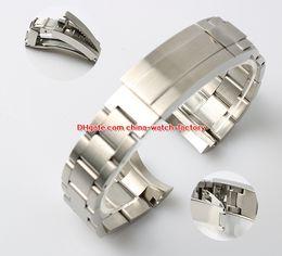 Topselling de haute qualité 21mm Sea-Dweller Bracelets montres Bracelet 316L de sécurité Bracelet en acier Boucle déploiement boucle déployante Pour 116660 Montres en Solde