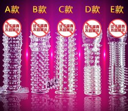 Used Toys Wholesale Australia - Spiked Crystal Condom Sexual adult sex products Mace sex toy make penis bigger condom for men and women sex pleasure use