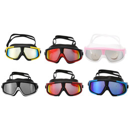 220bcfb3d45 Swim gGoggles Waterproof Swimming Goggles Suit HD Anti-Fog 100% UV  Adjustable Prescription Glasses Waterproof Diving Glasses