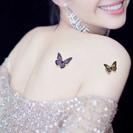 1865d2bc9cda9 Foot Tattoos For Women Australia - 2019 New 3D Colorful Butterfly Temporary  Tattoo Body Art Sticker