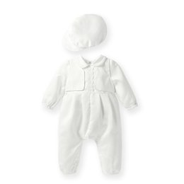 $enCountryForm.capitalKeyWord Australia - Baby Boy Baptism Suits White Satin Baptismal Set w  Hat Christening Clothes White robe bapteme fille Baby Shower Baptized Dress