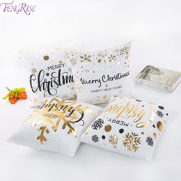 Happy Ornament Australia - FENGRISE Christmas Pillow Case Merry Christmas Decoration for Home Ornaments Deer Santa Claus Happy New Year 2019
