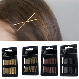 Wholesale 24PCS Set Coffee Bang clip Hair Pin Bride Valentines Gift Golden Exquesite No Hurt For Hair Accessories Black High Quality