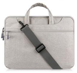 Laptop Bag Shoulder Straps NZ - Laptop Bag Sleeve Case for MacBook Air 13 inch 11 Pro Retina 12 13 15 handle shoulder strap notebook bag 14 15.6'' Laptop