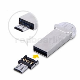 Wholesale Mini USB Flash Disk U Disk pin Micro USB OTG Cable Adapter Converter For Xiaomi HTC Samsung HuaWei Tablet
