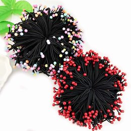 $enCountryForm.capitalKeyWord Australia - 10-50pcs lot 5cm Rubber Bands For Hair Nylon Red Beads Scrunchy Hair Rubber Bands Accessorise For Women Ponytail