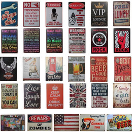 man cave wall art Canada - Metal Painting Tin Signs Collection Wall Art RetroTIN SIGN Old Wall Metal Painting ART Bar Man Cave Pub Restaurant Home Decoration AN2480