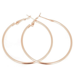celebrity jewelry brands UK - 1Pair 50MM Big Smooth Circle Earrings Hoop Earrings Basketball Brincos Celebrity Brand Loop for Women Jewelry Hot Sale