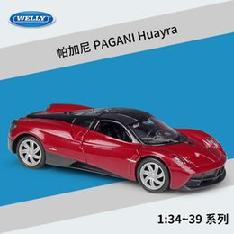 Discount welly toys WELLY Diecast Car Model Toy, PAGANI Huayra, Super Sports Car, Roadster, 1:36 High Simulation, Kid Birthday Gift, Collect