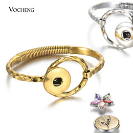 $enCountryForm.capitalKeyWord Australia - 10pcs lot New Vintage Snap Bangle Women Interchangeable Jewelry with Circle Ring Link fit 18mm Snap Button NN-724*10