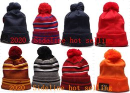 Car bonnets online shopping - football Beanie Striped Sideline American Sport Cuffed Knit Hat Wool Bonnet Cheap Beanie Hip Hop CAR Panthers Knitted Skull Cap Men Women