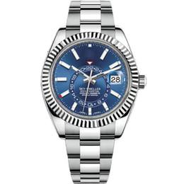 10 ألوان الساعات الفاخرة 42MM SKY-DWELLER 326934 326933 326938 التلقائي ووتش الفولاذ المقاوم للصدأ 2813 حركة رجل الساعات الرجال ساعة اليد ووتش