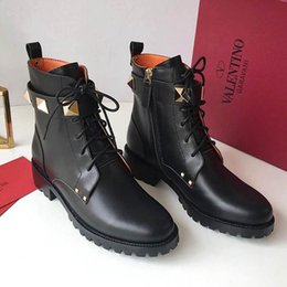 ea98a8d4f4b0f ItalIan leather ankle boots online shopping - Italian luxury V LENTNIO  ladies leather boots lace Rivets