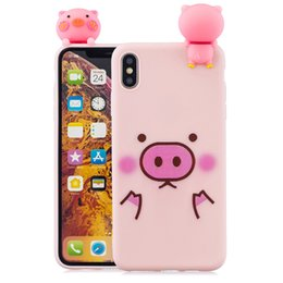 Cheap Iphone Cases Wholesale NZ - Cheap Soft Silicone Case for iPhone xsmax cases 3D Pinky Pig Phone Cases for iPhone XSMAX