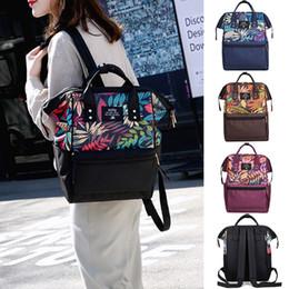 baby care cartoon 2019 - Brand Design Mummy Bags Fashion Fox Printed Travel Backpack Large Cartoon Maternity Diaper Bags Nursing Bag For Baby Car