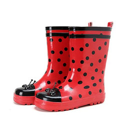 $enCountryForm.capitalKeyWord Australia - Hot Sale-Kids 2016 New Water Children Shoes Summer Rubber Rain Boots Spring Mid-Calf Cartoon Fashion Student Boots Cute Red Dot