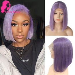 $enCountryForm.capitalKeyWord Australia - Colorful Bob Cut Grade Virgin Remy Lace Front Human Hair Wigs With Baby Hair Purple Short Bob Remy Human Hair Lace Front Wigs ishow nadula