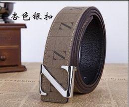 Z Buckle Leather Belt UK - Leather quality belt for men new z-buckle belt for men Korean style fashion smooth buckle pure leather belt for men