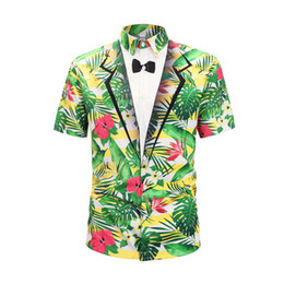 $enCountryForm.capitalKeyWord Australia - ss new Italian brand design luxury men's casual short-sleeved shirt fashion designer mixed color printed shirt Medusa short-sleeved shirt