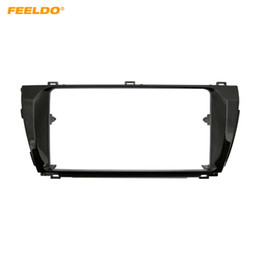 toyota audio adapter NZ - FEELDO 2DIN Car Stereo Fascia Frame Adapter for TOYOTA Corolla Altis Levin (LHD) Audio Dash Plate Panel Frame Trim #4867