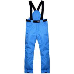 Warm Waterproof Pants Men UK - Winter Warm Men Waterproof Breathable Pants Autumn Ski Solid Suspenders Casual