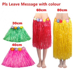 $enCountryForm.capitalKeyWord Australia - Hawaiian Costume Grass Skirts Hula Skirt Plastic Fibers Hawaiian Patry Decorations Children Kids & Adult Hula Show Skirt Beach Dance Dress
